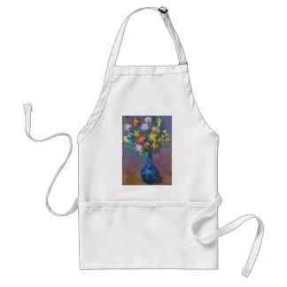Avental Vaso dos crisântemos Claude Monet