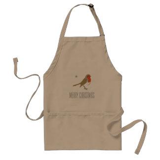 Avental vermelho do pássaro do pisco de peito