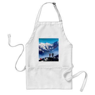 Avental Vista panorâmica da montanha máxima de Ama Dablam