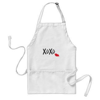 Avental XoXo-Abraço-Beijo-com-Vermelho-Lábios