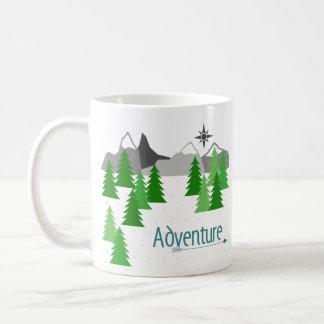 Aventura à caneca de café das montanhas