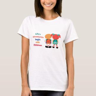 Aventura com crianças camiseta