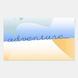 aventura no deserto adesivo retangular