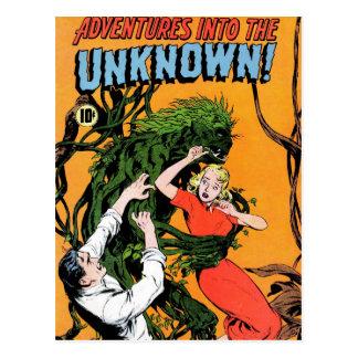Aventuras no desconhecido - cartão irritado da