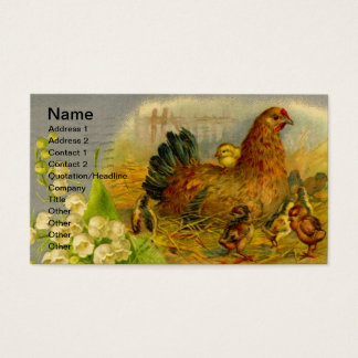 Aves domésticas do vintage cartão de visitas