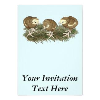 Aves jovens do chocolate de Turquia Convite 12.7 X 17.78cm