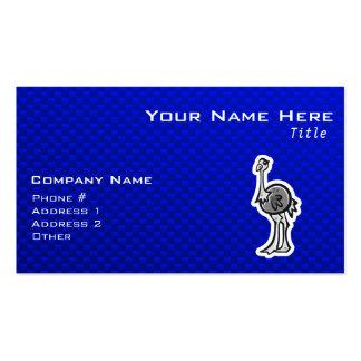 Avestruz bonito; Azul Cartão De Visita
