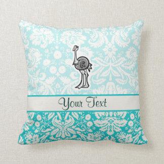 Avestruz bonito dos desenhos animados travesseiros de decoração