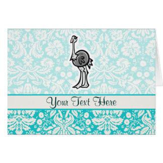 Avestruz bonito dos desenhos animados cartões