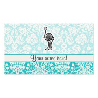 Avestruz bonito dos desenhos animados cartão de visita