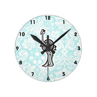 Avestruz bonito dos desenhos animados relógios para pendurar