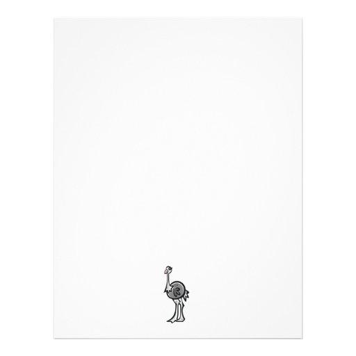 Avestruz bonito; Legal Papel De Carta Personalizados