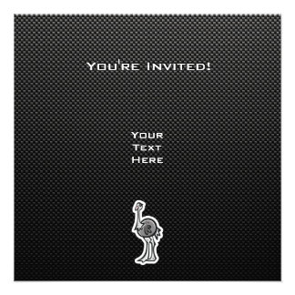 Avestruz bonito; Lustroso Convites