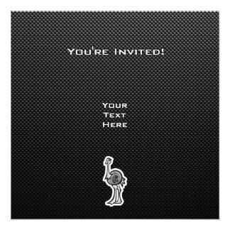 Avestruz bonito Lustroso Convites