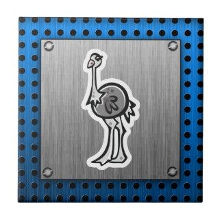 Avestruz bonito; Metal-olhar Azulejos De Cerâmica