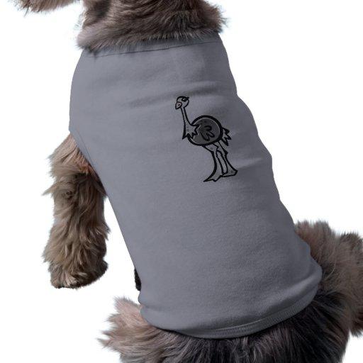 Avestruz bonito; Metal-olhar Camiseta Para Caes