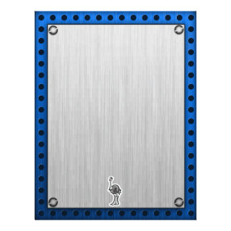 Avestruz bonito; Metal-olhar Papel De Carta Personalizados