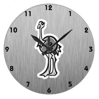 Avestruz bonito; Metal-olhar Relógios De Paredes