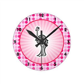 Avestruz bonito relógios de paredes