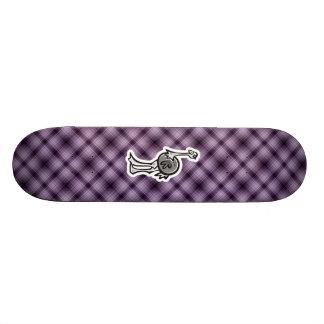 Avestruz bonito; Roxo Skate