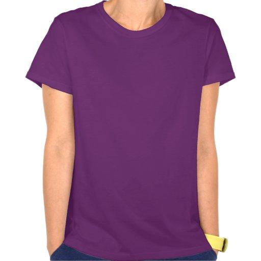 Avestruz bonito; Roxo T-shirt