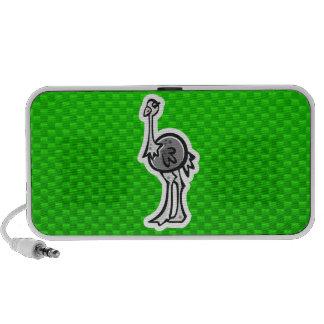 Avestruz bonito Verde Caixinha De Som Para Mp3
