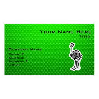 Avestruz bonito; Verde Cartão De Visita
