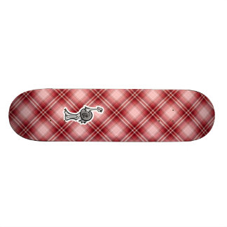 Avestruz bonito Xadrez vermelha Skate Boards