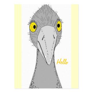 Avestruz engraçada cartão postal