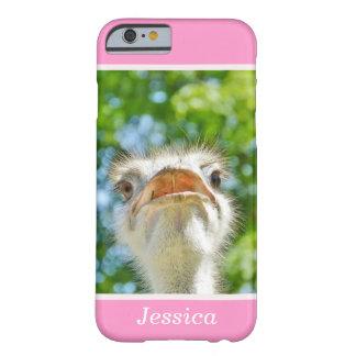 Avestruz engraçada - caso conhecido feminino do capa barely there para iPhone 6