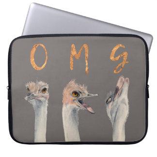 Avestruzes de OMG Sleeve Para Notebook