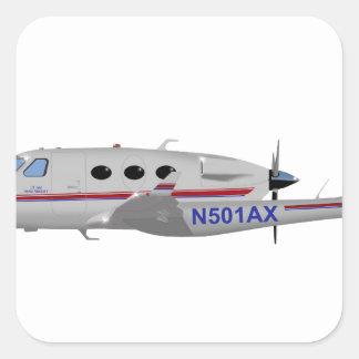 Aviação A-500 N501AX de Adam Adesivo Em Forma Quadrada
