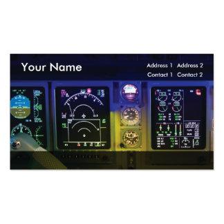 aviação do modelo de cartão de negócios cartão de visita