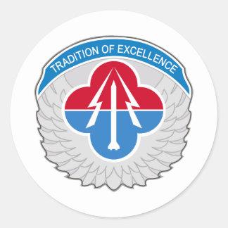 Aviação e comando do míssil adesivos em formato redondos