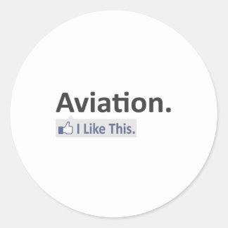 Aviação… eu gosto deste adesivo redondo
