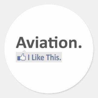 Aviação… eu gosto deste adesivo em formato redondo