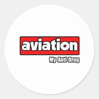 Aviação… meu antinarcótico adesivo redondo