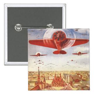 Aviação soviética bóton quadrado 5.08cm
