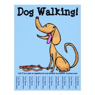 Aviador de passeio do cão modelo de panfleto