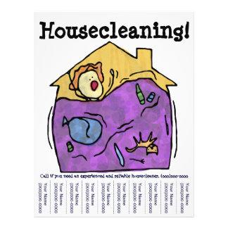Aviador Housecleaning Panfletos Personalizados