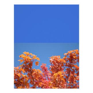 Aviadores do céu azul que enviam as folhas de outo panfleto personalizado