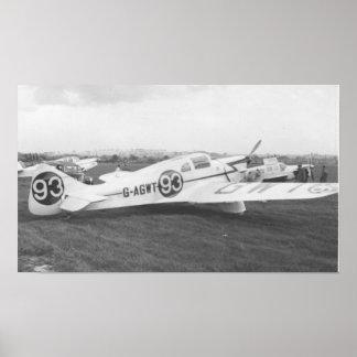 Avião 1953 do noitibó-americano posteres