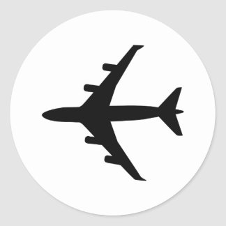 Avião Adesivo Redondo