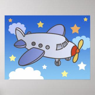 Avião alto de voo poster