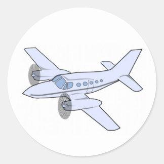 Avião Adesivos Redondos