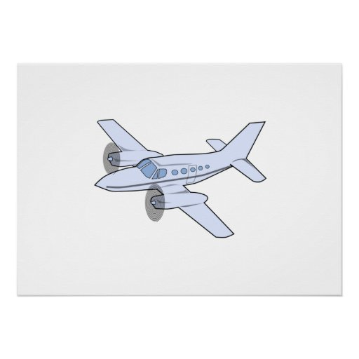 Avião bimotor posteres