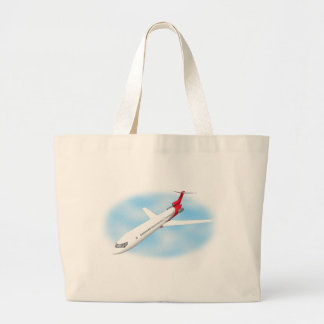 Avião comercial do jato modelo 3D Bolsas De Lona