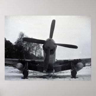 Avião de combate da guerra mundial 2 pôster