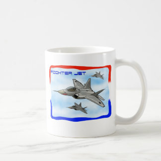 Avião de combate do raptor F22 Caneca De Café