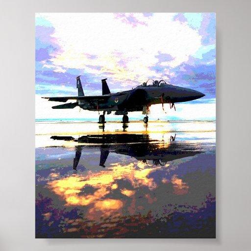 Avião de combate dos planos pôsteres
